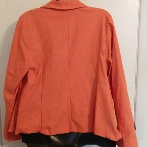 Torrid Jackets & Coats - Torrid Cut Away Fit Blazer 2X Orange Stretchy